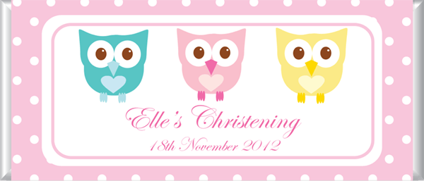 Personalised Chocolate Favours - 3 Little Owls
