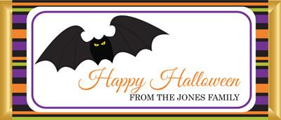 Personalised Chocolate Favor - Halloween Bat