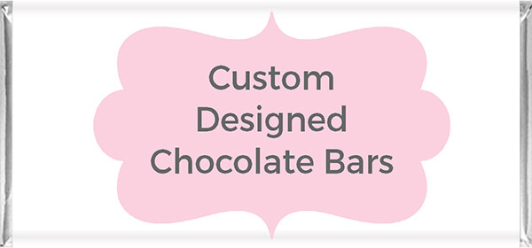 Custom Designed Chocolate Bar Favours