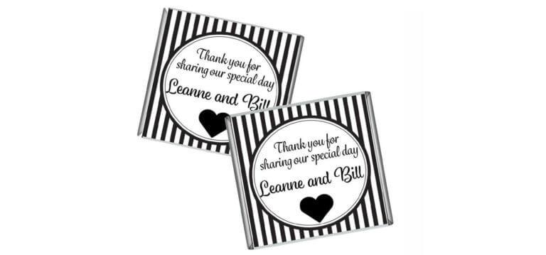 Black & White Striped Petite Chocolates