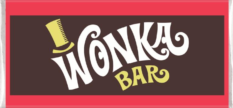 Personalised Chocolate Favours Wonka Bar