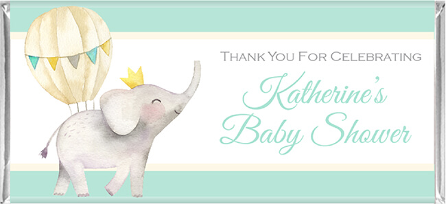 Baby Shower Chocolate Favours - Elephant & Balloon