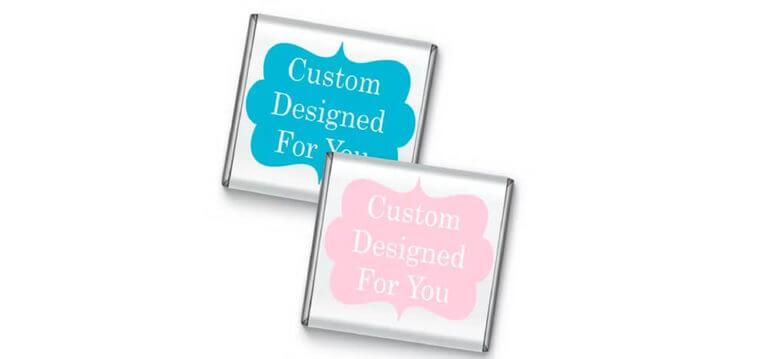 Custom Design Petite Chocolate Favours