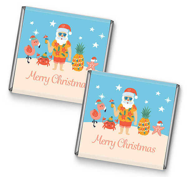 Tropical Santa Design Petite Chocolate Favours