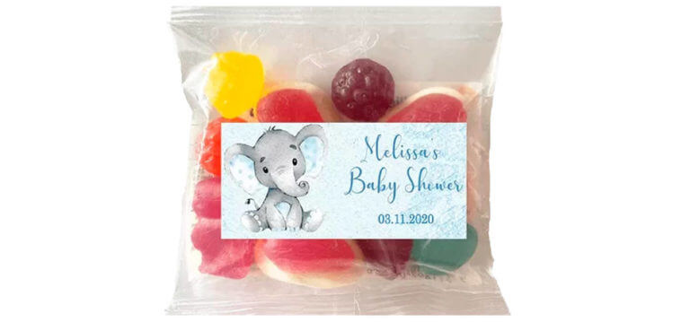 Personalised Lolly Bags - Baby Elephant