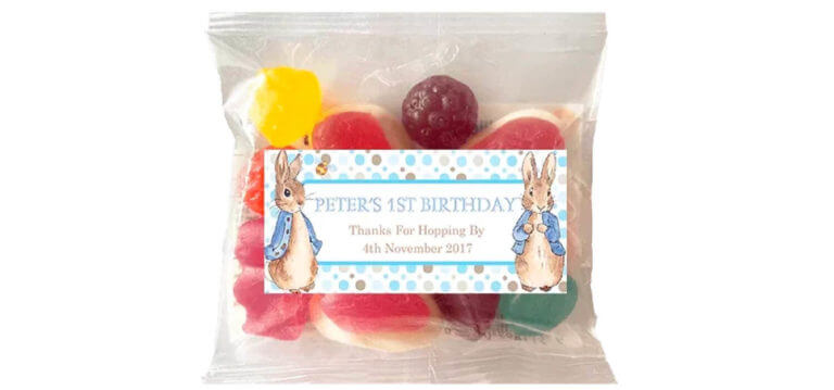 Personalised Lolly Bags - Peter Rabbit