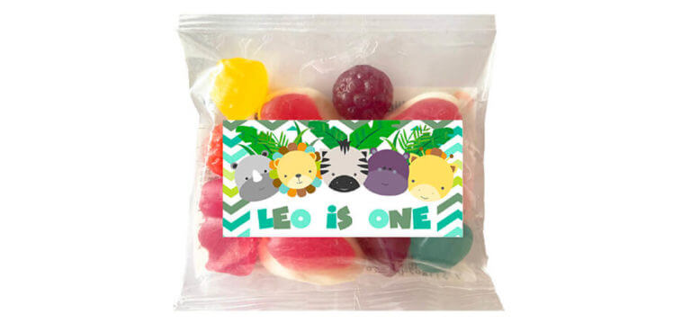 Personalised Lolly Bags - Jungle Friends