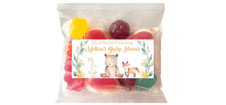 Personalised Lolly Bags - Woodlands Baby