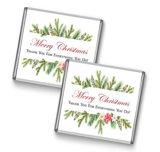 Watercolour Christmas Petite Chocolate Favours