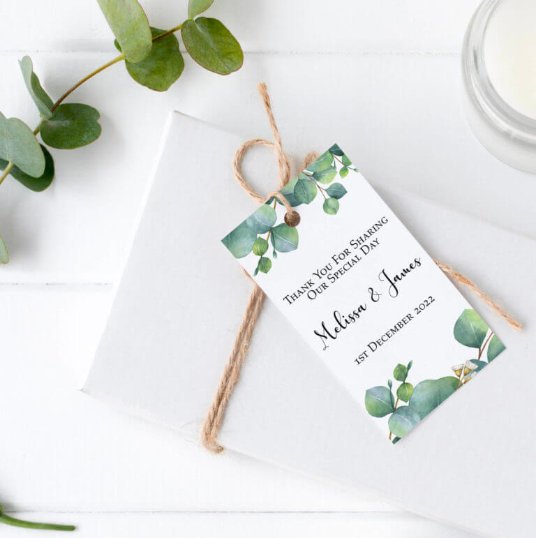 Personalised Gift Tags - Eucalyptus Watercolour