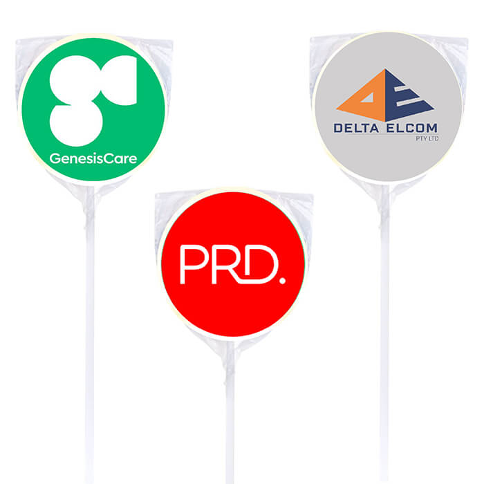 Personalised Business Lollipops