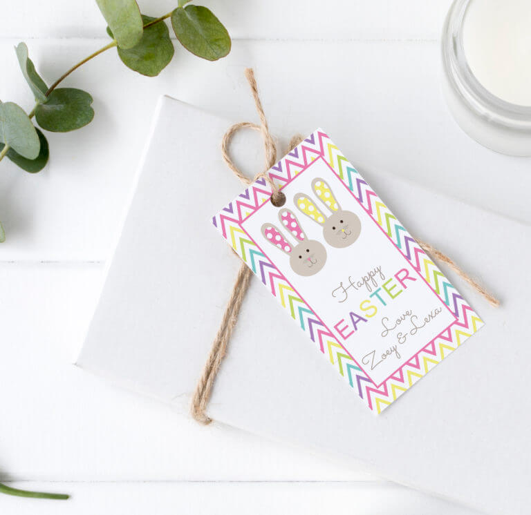 Personalised Gift Tags - Bright Bunny