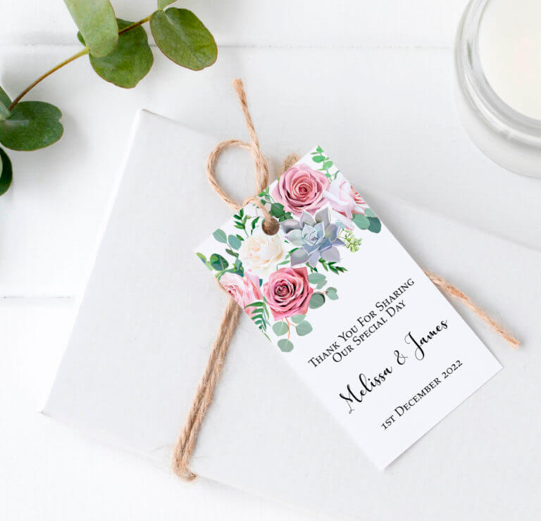 Personalised Gift Tags - Roses