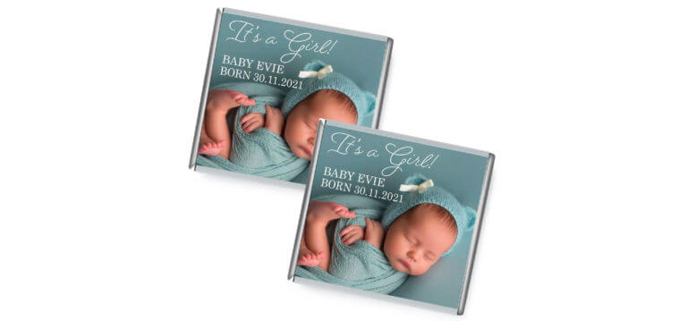 Birth Announcement Photo Petite Chocolates