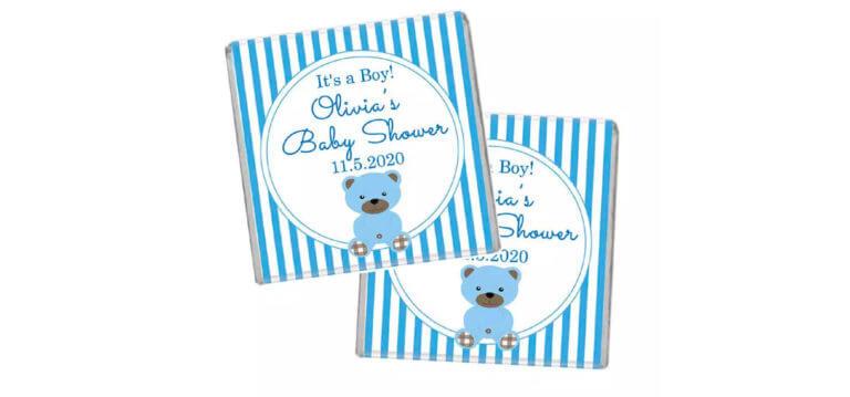 Blue Teddy Bear Petite Chocolates