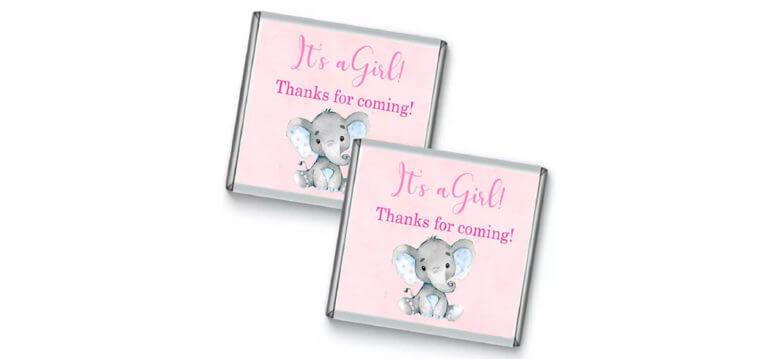 Pink Baby Elephant Petite Chocolates