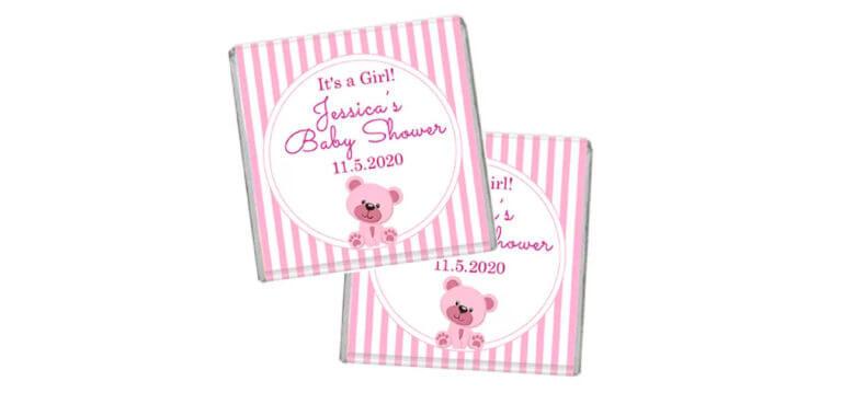 Pink Teddy Bear Petite Chocolates