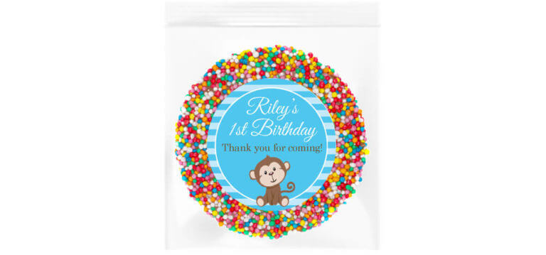 Blue Monkey Personalised Giant Freckle