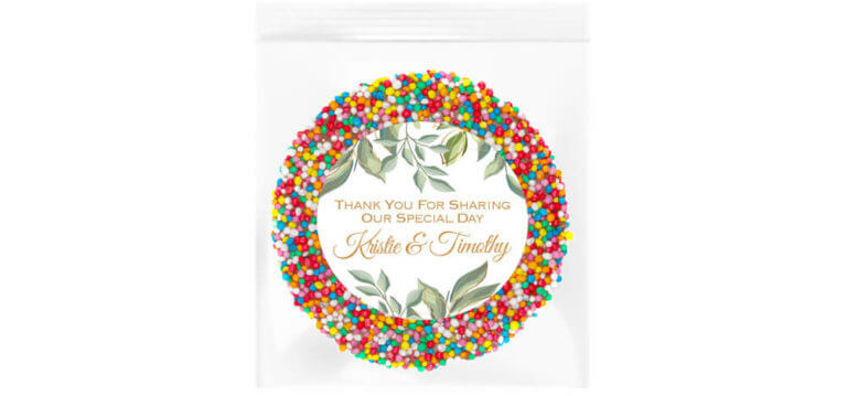 Eucalyptus Leaves & Gold Personalised Giant Freckle