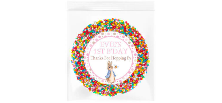 Pink Peter Rabbit Personalised Giant Freckle