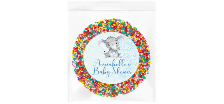Blue Baby Elephant Personalised Giant Freckle