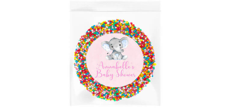 Pink Baby Elephant Personalised Giant Freckle