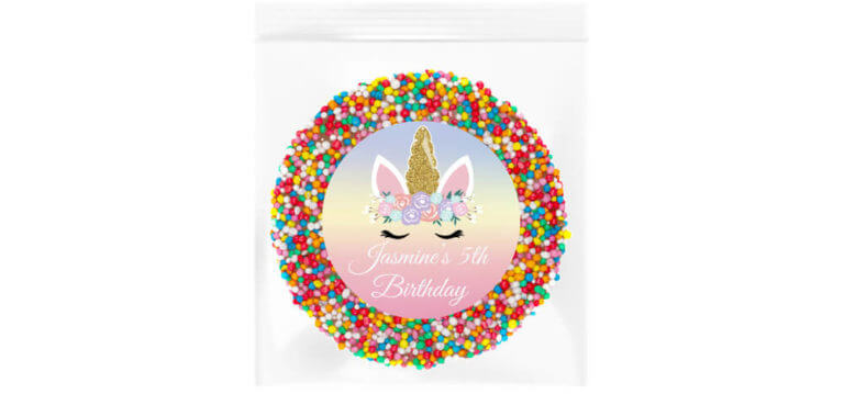 Floral Unicorn Personalised Giant Freckle