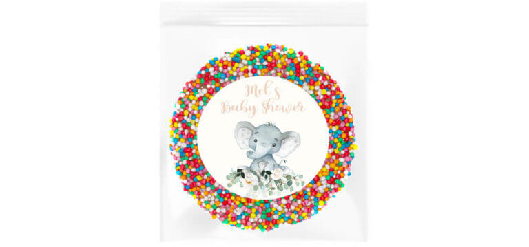 Baby Elephant Florals Personalised Giant Freckle