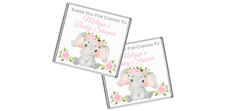 Pink Floral Elephant Petite Chocolates