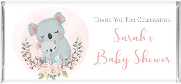 Baby Koala Personalised Chocolate Bars